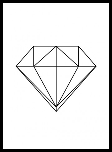 Creative North | Print: Diamond Line-art - Creative North